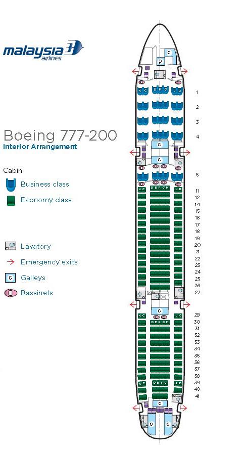 Boeing 777 200 Interior Seat Map Malaysiaairlines Com