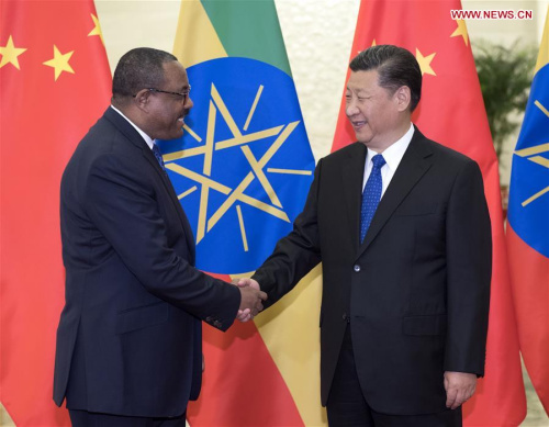 Image result for Belt and Road Forum : Chinese leaders meet Ethiopia Prime Minister