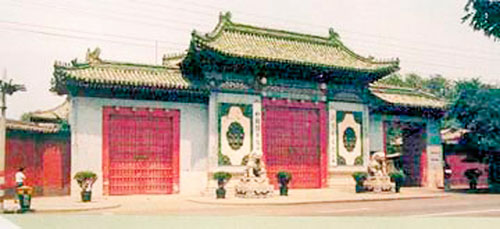 An old photo of Songpo Library.[Photo/Cri.cn]