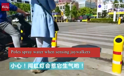 Chinese cities take various measures to stop jaywalkers