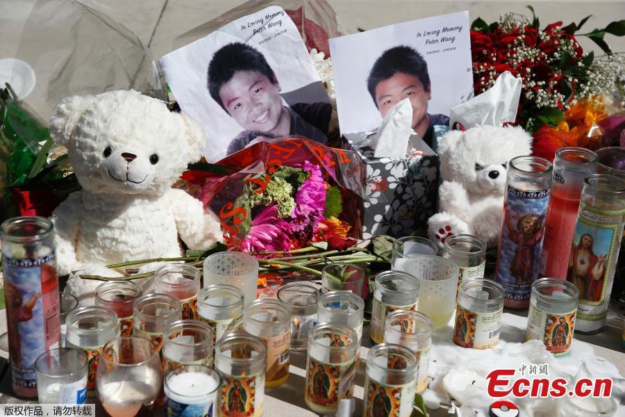 Peter Wang who died saving classmates is laid to rest