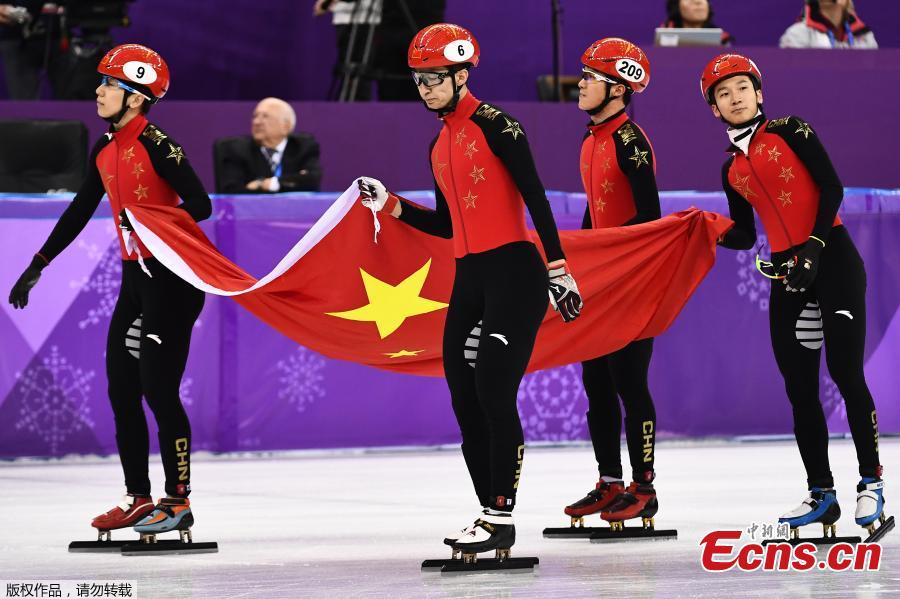 China wins silver in men's short-track speedskating 5,000m relay