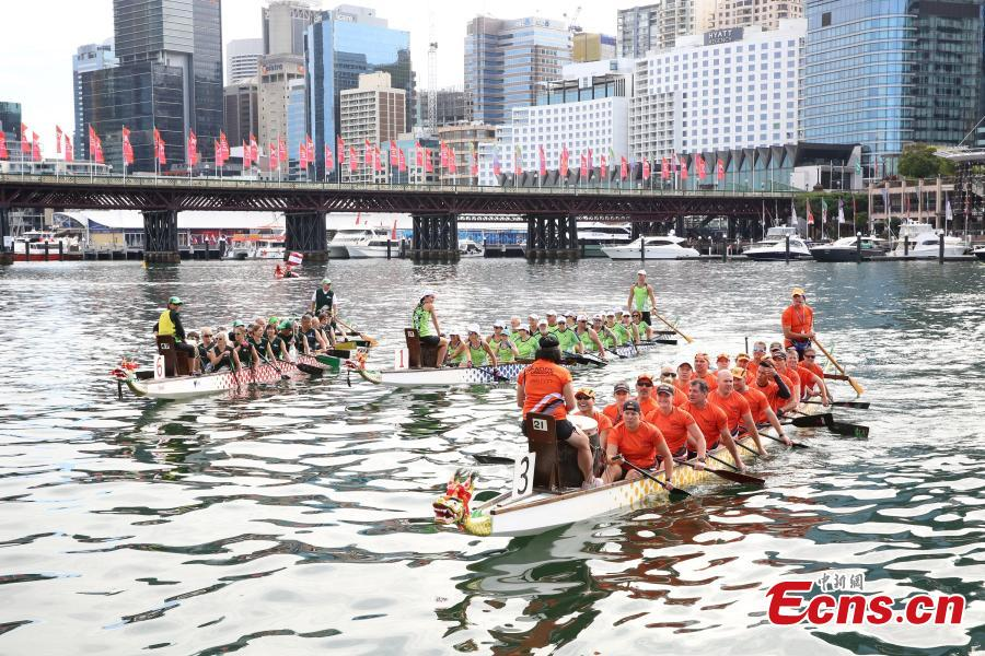 3,000 paddlers in Sydney's dragon boat race